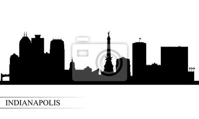 Indianapolis-Stadtskylineschattenbildhintergrund