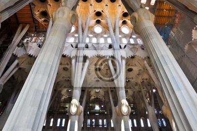Innenansicht der Sagrada Família. Barselona.