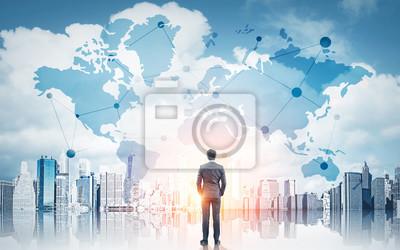 Poster International Business-Konzept