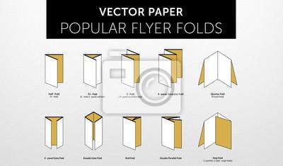 internetional papier flyerformate falten vol 2 wandposter