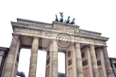 Isoliert auf weißem Brandenburger Tor - beliebte Ziele in Berlin