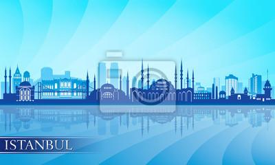 Istanbul Skyline der Stadt detaillierte Silhouette