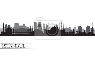 Istanbul Skyline Silhouette