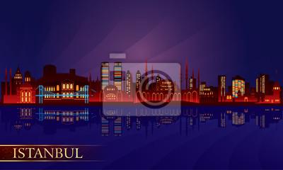 Istanbul Stadt Nacht Skyline