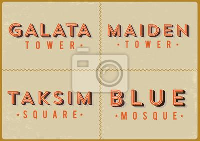Istanbul-Typografie-Entwurf