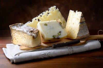 Poster Italian cheeses