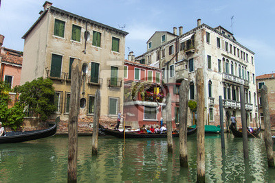Italien, Venedig. Blick auf den Canal Grande