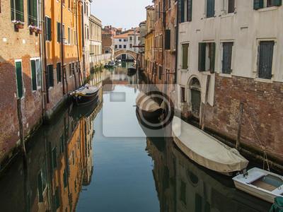 Italien, Venedig. Typische städtischen Blick in den frühen Abend