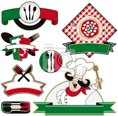 italienisches Restaurant Vektor-Elemente