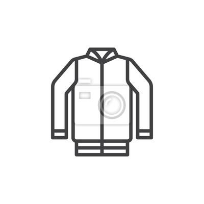 Jacke linie symbol, skizzieren vektor zeichen, lineare stil piktogramm Poster myloview