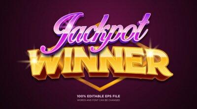 Poster Jackpot winner text style effect