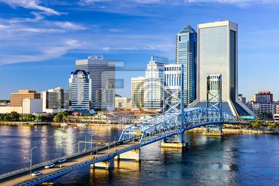Poster Jacksonville, Florida, USA Skyline der Stadt