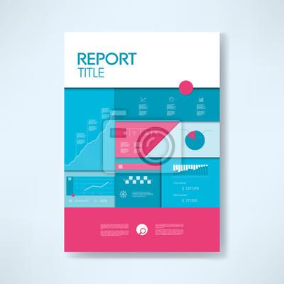 Jahresbericht deckblatt vorlage mit business-symbole und elemente ...
