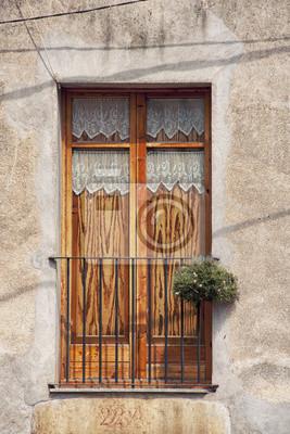 Jahrgang Holztür typisch für spanische Architektur