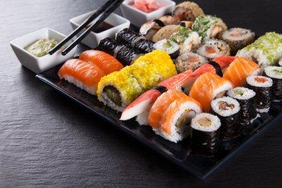 Poster Japanese Seafood Sushi-Set