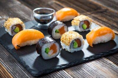 Poster Japanische Meeresfrüchte-Sushi