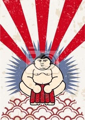 Japanische Sumo-Ringer Vektor-Label