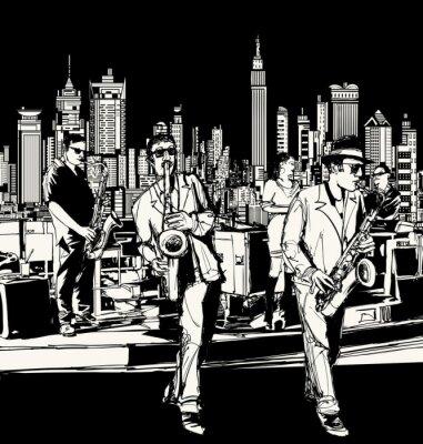 Poster Jazz-Band spielt in New York