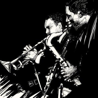 Poster Jazz Blechbläser