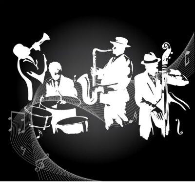 Poster Jazz-Konzert schwarzem Hintergrund