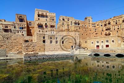 Jemen. Traditionelles Dorf