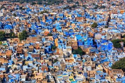 Poster Jodhpur die blaue Stadt, Rajasthan, Indien