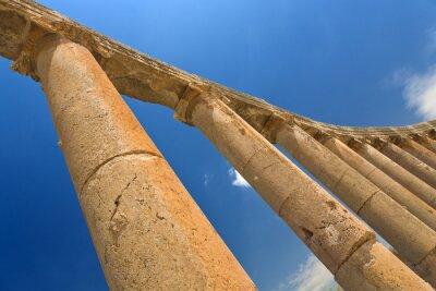 Poster Jordanien. Jerash (die römische alte Stadt von Geraza).