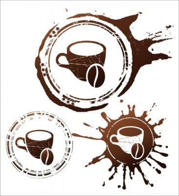 Poster Kaffee-Design-Elemente. Abbildung