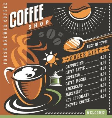 Poster Kaffee-Haus-Menü kreative Schablone