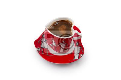 Kaffee in Herzform gesetzt