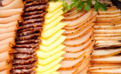 Poster Kalte Fleischsorten mit Käse
