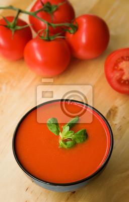 Kalte spanische Tomaten-Suppe Gazpacho