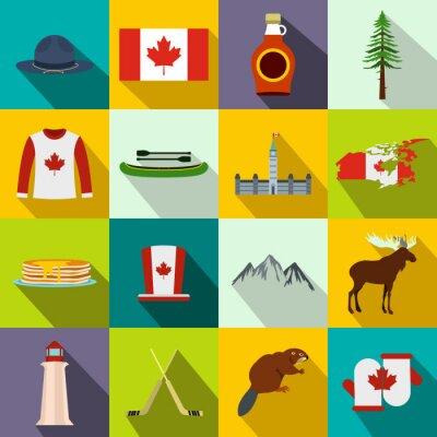 Poster Kanada-Ikonen flach