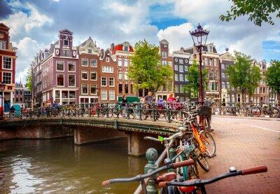 Poster Kanal in Amsterdam