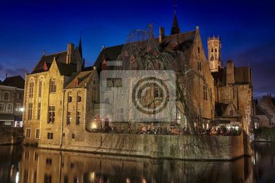 Kanäle und alte Gebäude von Brügge, Belgien