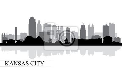 Kansas City Skyline Silhouette Hintergrund