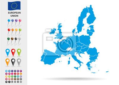 Poster Karte der Europäischen Union