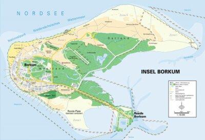 borkum karte Karte insel borkum wandposter • poster Stadtplan, Stadtzentrum