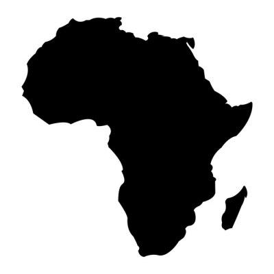 Poster Karte von Afrika