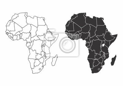 Poster Karten des Afrikas