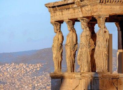 Poster Karyatiden, Akropolis von Athen