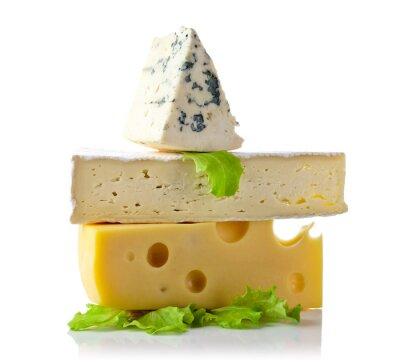 Poster Käse isoliert auf weiß