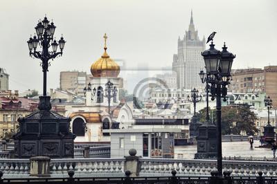 Kathedrale von Christus dem Erlöser Platz, Moskau, Russland