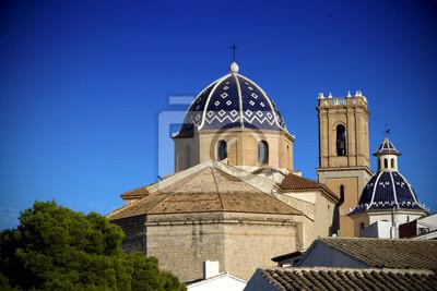 Kathedrale von Mittelmeerstadt Altea, Spanien
