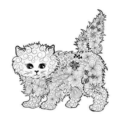 Poster Kätzchen doodle