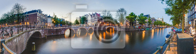 Poster Keizersgracht in Amsterdam, Niederlande.
