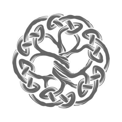Keltischer Baum Des Lebens Wandposter Poster Weberei Knoten