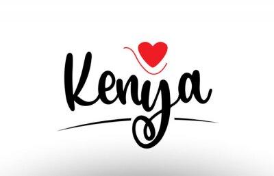 Poster Kenya country text typography logo icon design