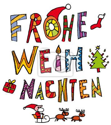 Weihnachten Kinder.Poster Kinder Schrift Weihnachten