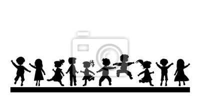 Kinder Silhouetten